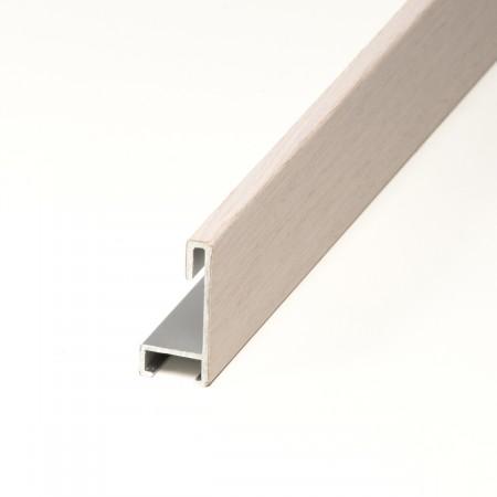 Aluminio chapado maple patina blanca