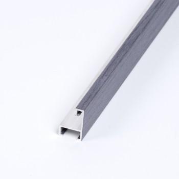 Aluminio chapado roble tinte Gris