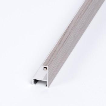 Aluminio chapado roble tinte Gris claro
