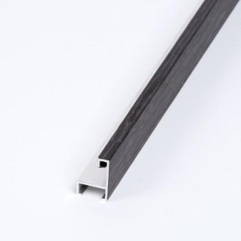 Aluminio chapado roble tinte Gris oscuro