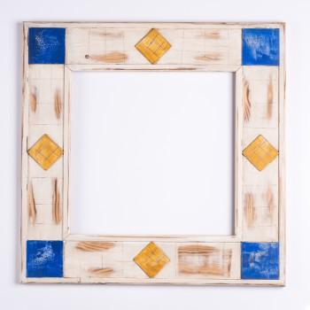 Pi . Decorat 392 Marfil adornos blau/groc