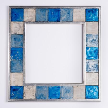 Pino.Decorado 101 plata policromias azules