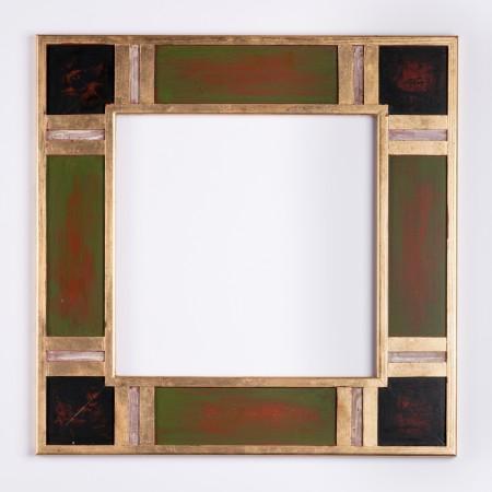 Pino.Decorado 015 Oro policromia verde adornos