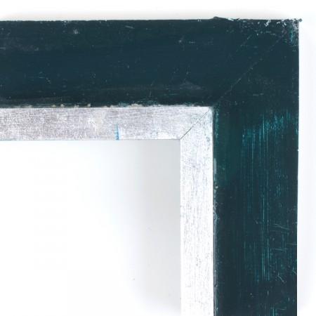 Pino. Decorado 100 Plata policromia azul