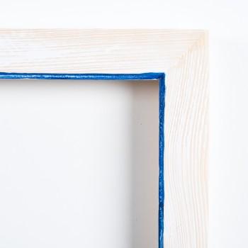 Pi decorat blanc fil blau