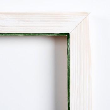 Pi decorat blanc fil verd