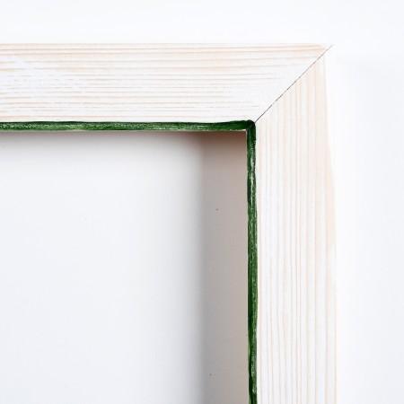 Pino decorado blanco filo verde