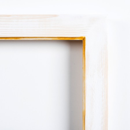 Pino decorado blanco filo amarillo