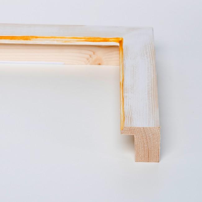 Marco Pino decorado blanco filo amarillo